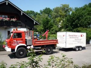 Lastwagen Panradl Moor für Erdarbeiten